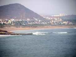 The Bay of Bengal near Visakhapatnam